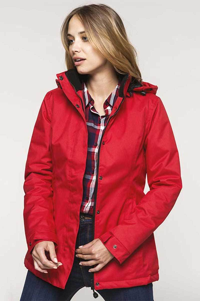 Carlow Women's Parka Jacket Red - Lee Valley Ireland - 1