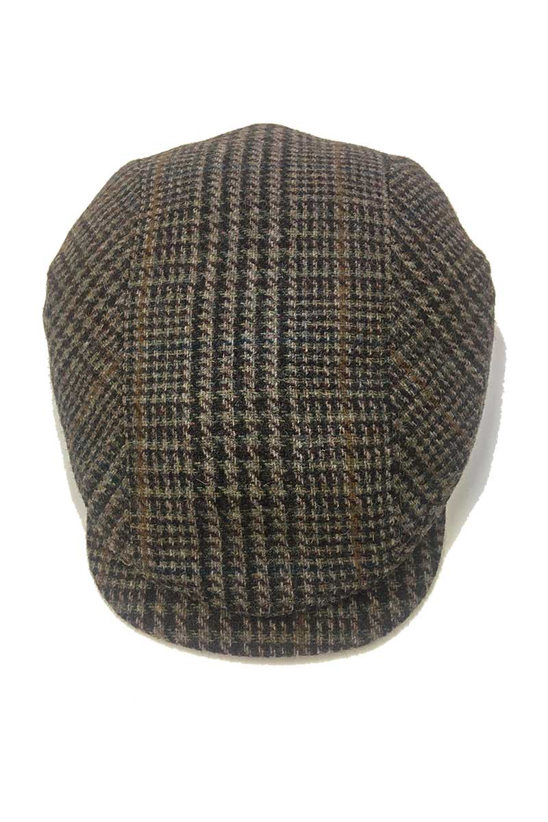 Kerry Tweed Cap - Brown Herringbone 2