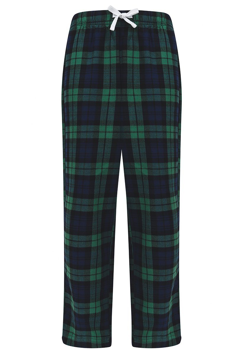 Kids Tartan Lounge Pants (SM083) Christmas Ralawise 5/6 Navy/Green Check