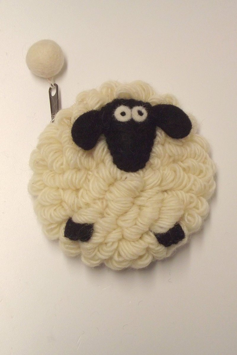 Irish Wool Sheep Purse