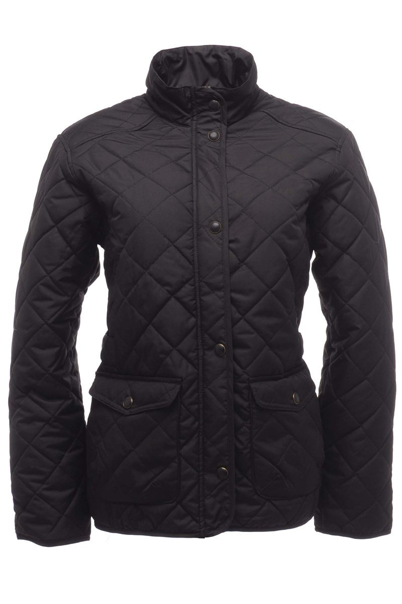 Ladies Quilted Jacket (RG067) Ral Ralawise S Black