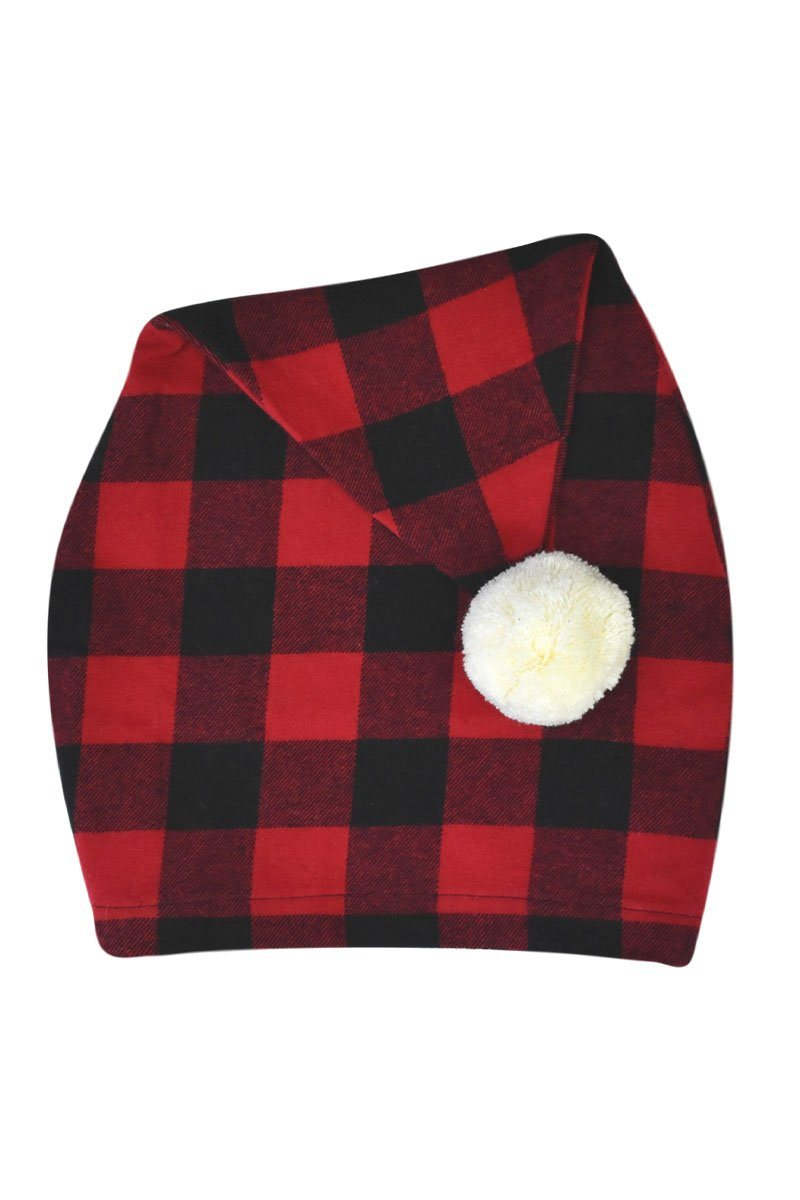 Flannel Nightcap Red Black Check LV9 1