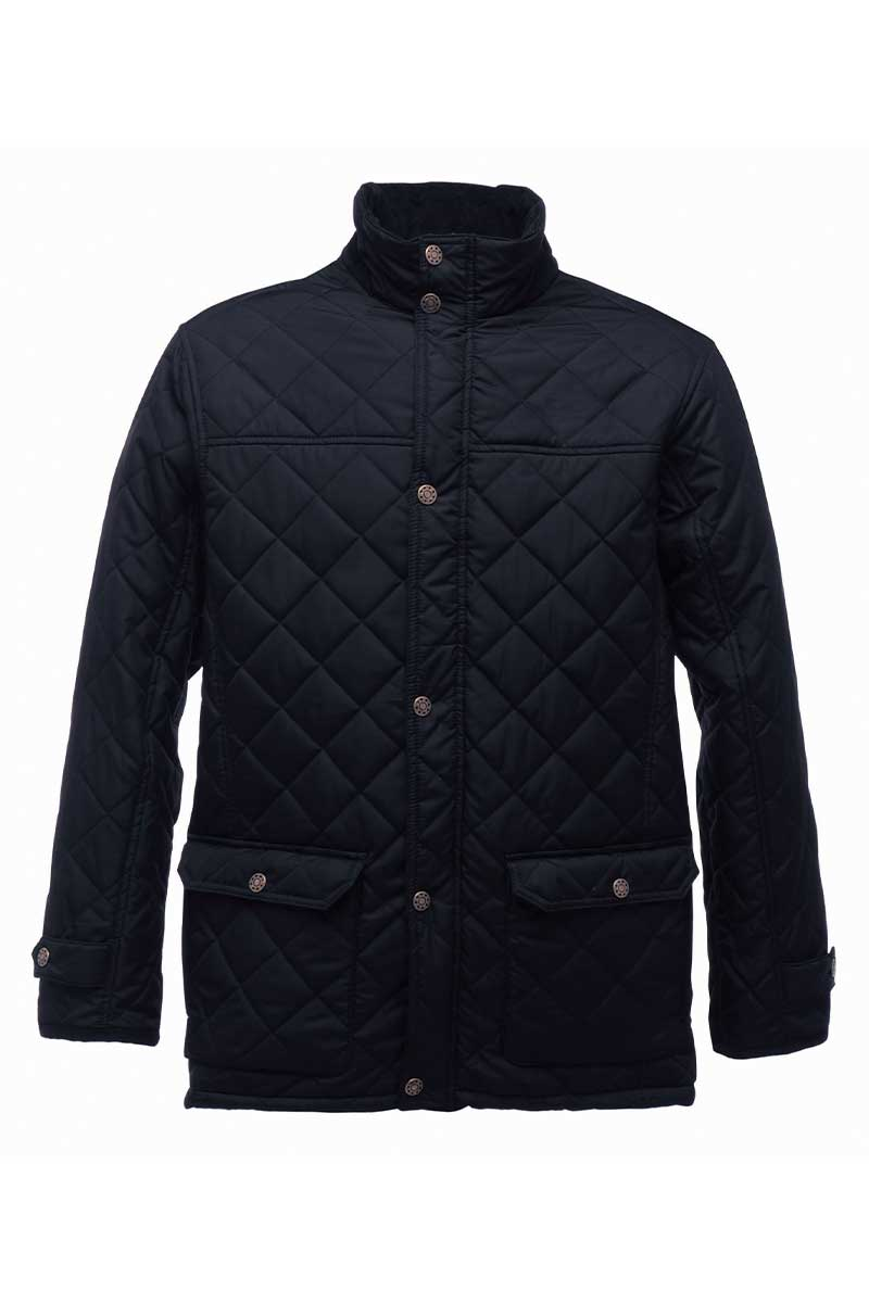 Mens Tyler Quilted Jacket (RG066) Jackets Ralawise S Black