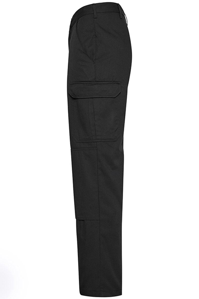 Mens Classic Cargo Trousers Black Side (RX600) 4