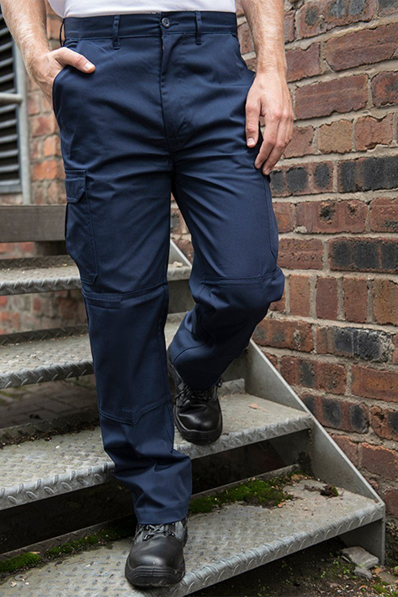 Mens Classic Cargo Trousers Navy (RX600) 2