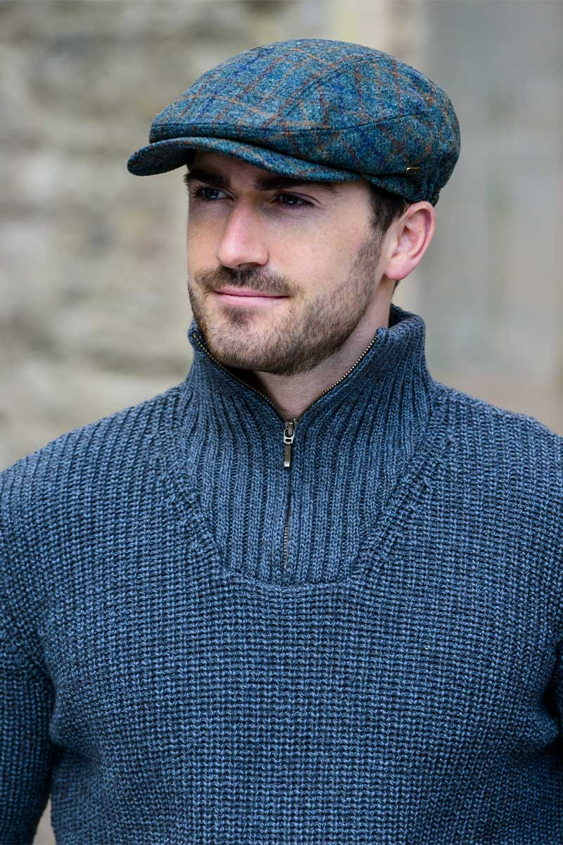 Mucross Kerry Flat Cap - Green Check 1