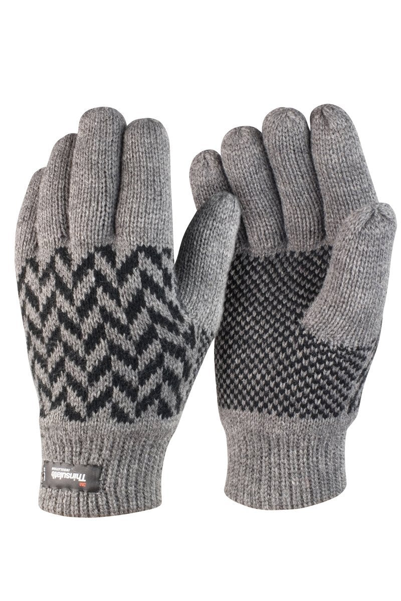 Pattern Gloves (R365X) Christmas Ralawise Grey S/M