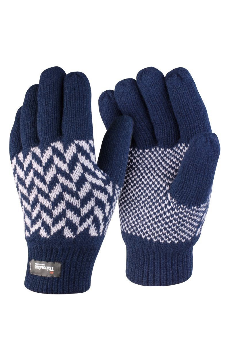Pattern Gloves (R365X) Christmas Ralawise Navy S/M
