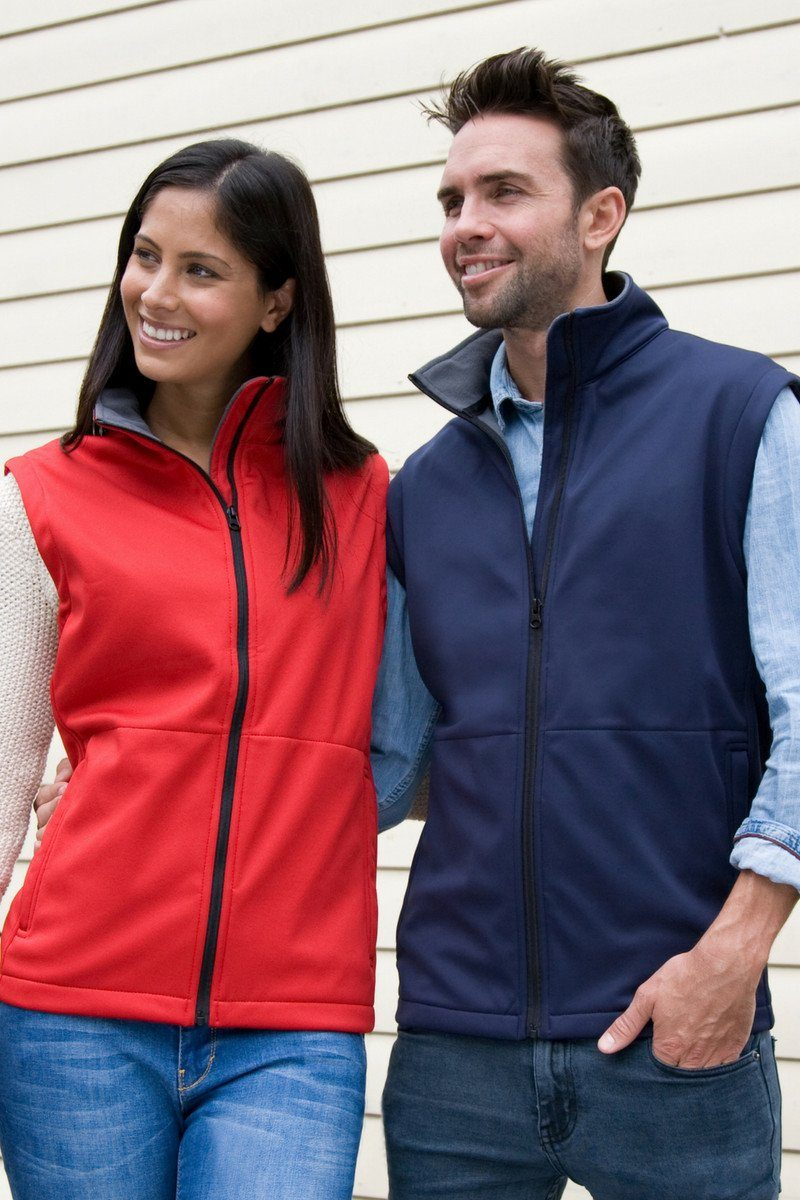 Core Softshell Gilet (R214X) - Navy - Red - Lee Valley Ireland - 1