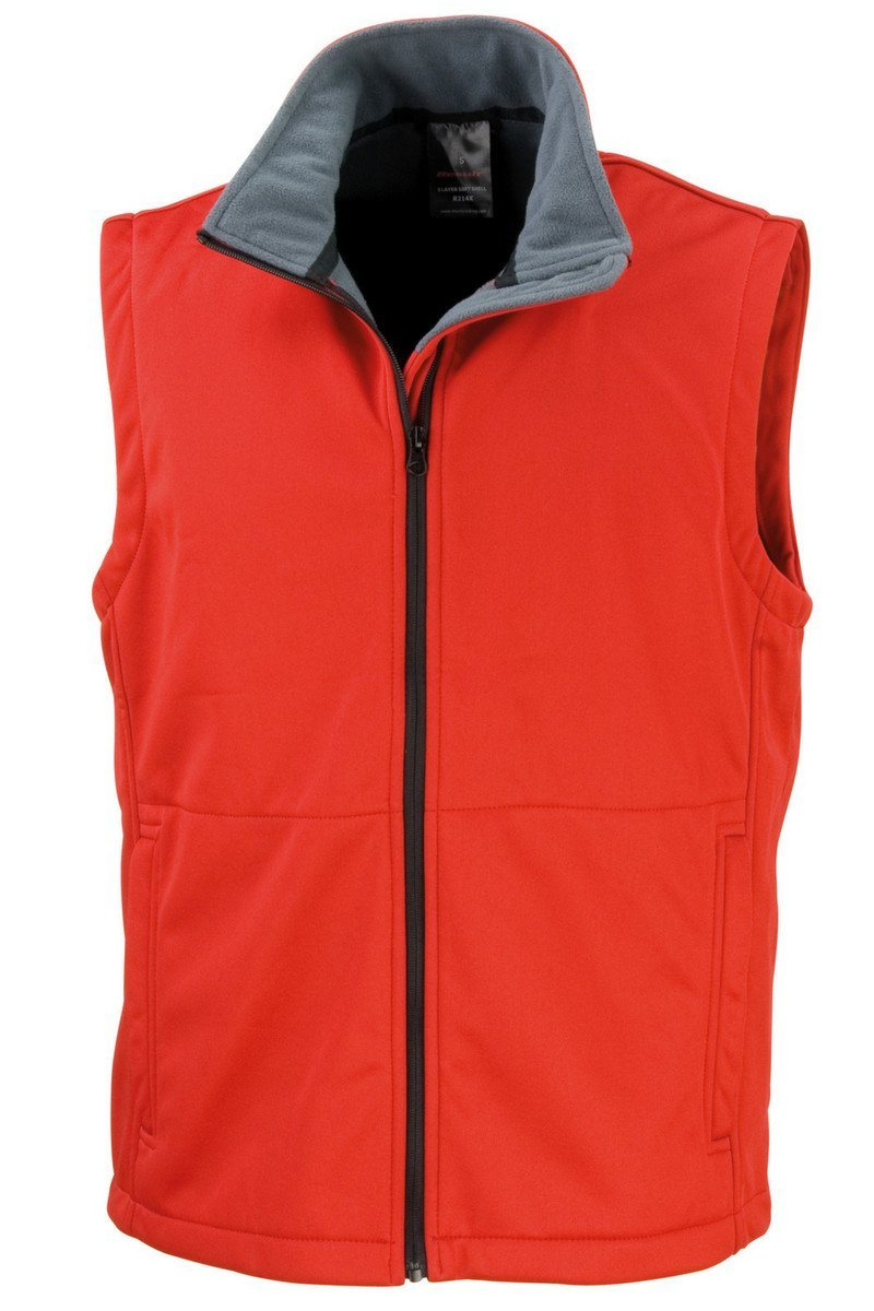 Core Softshell Gilet (R214X) - Red - Lee Valley Ireland - 1