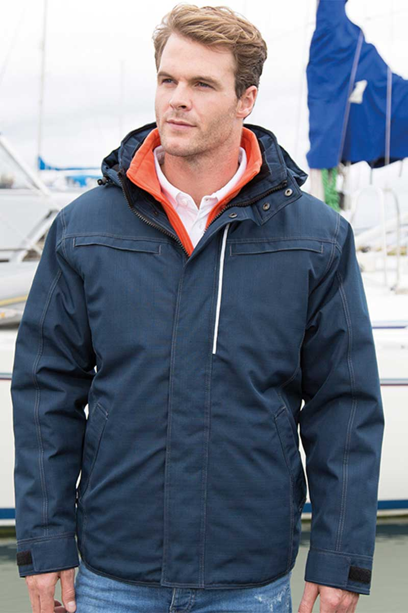 Denim Texture Rugged Jacket Navy (R326X) - Lee Valley Ireland - 3