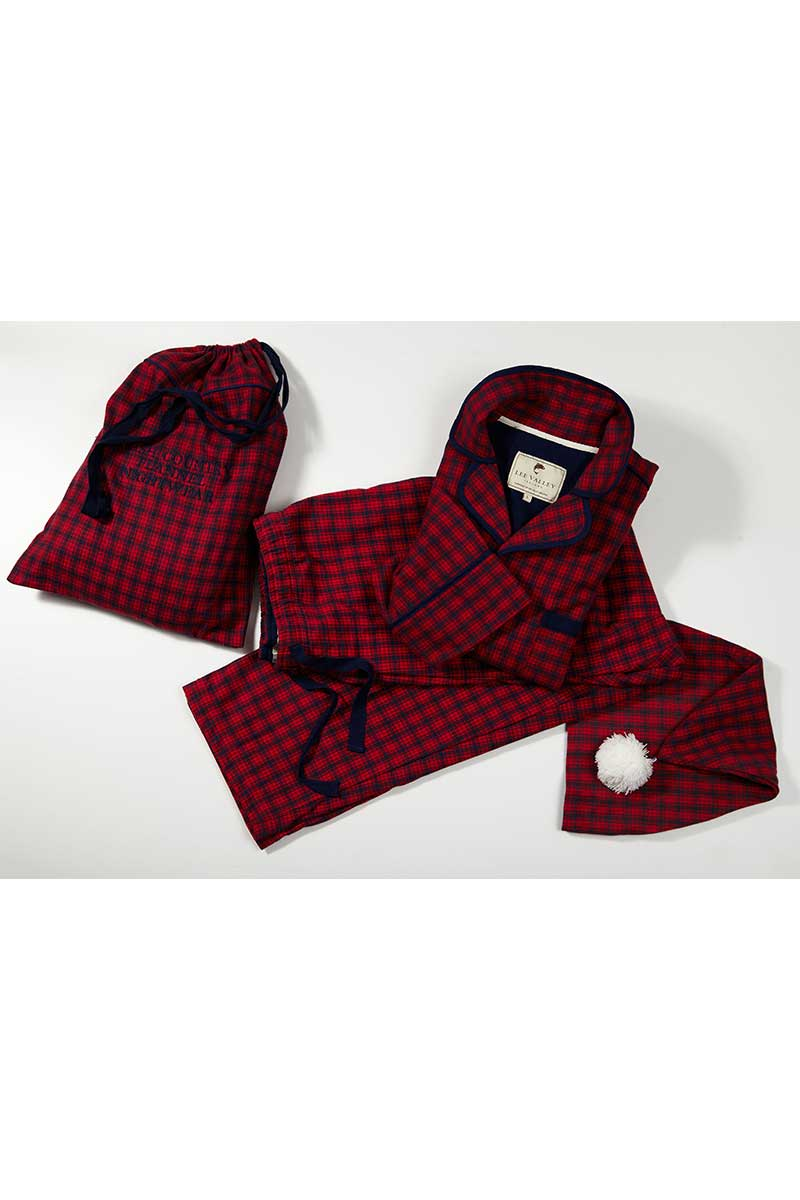 Full Nightwear Gift Set - Red Navy Check (SF2) 1