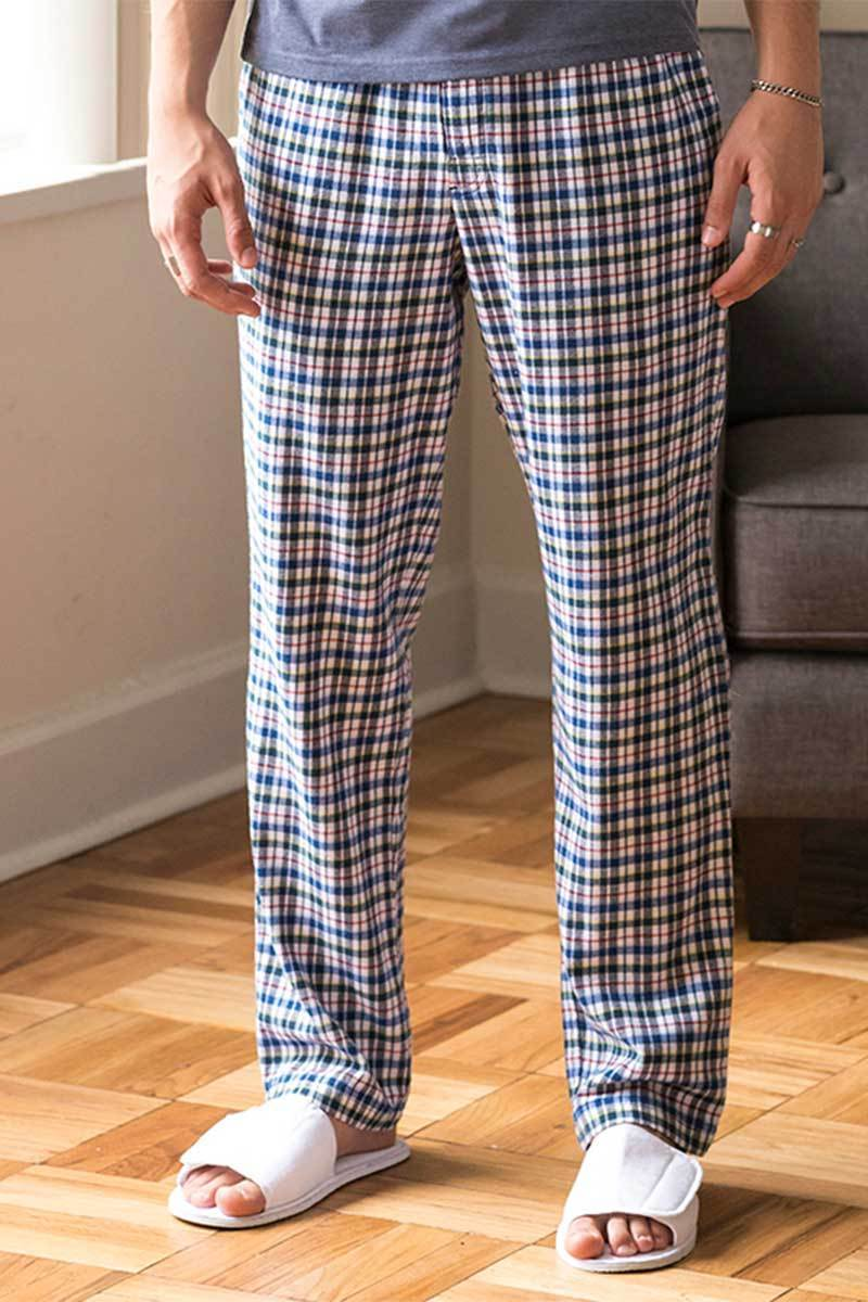 Lightweight Lounge Pants - White Multi Check - SFM83 Ral Ralawise