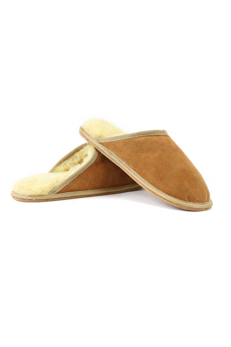 Mens Sheepskin Slippers Wool Slippers Yoko