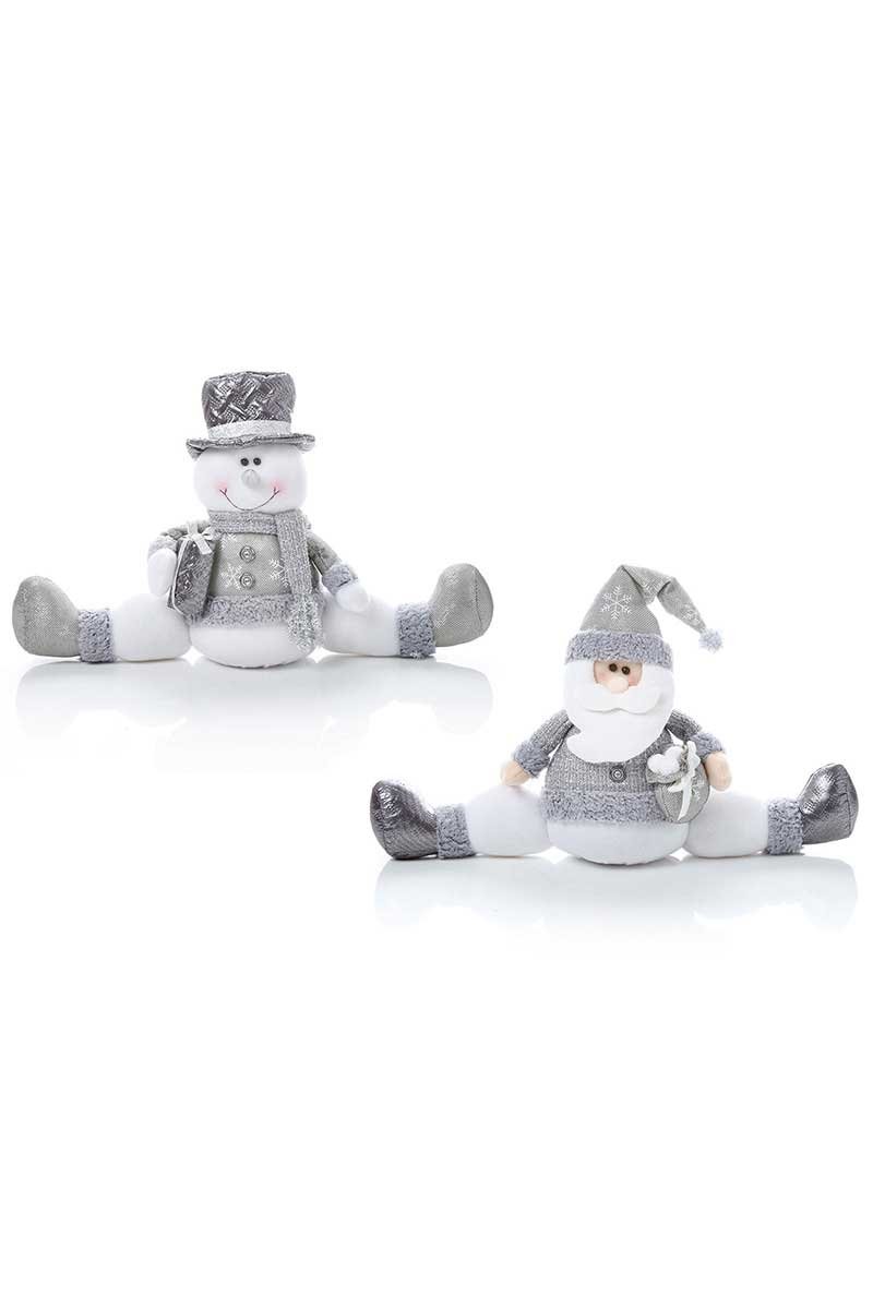 Festive Silver Sitting Decorations (CS418) Christmas Ralawise