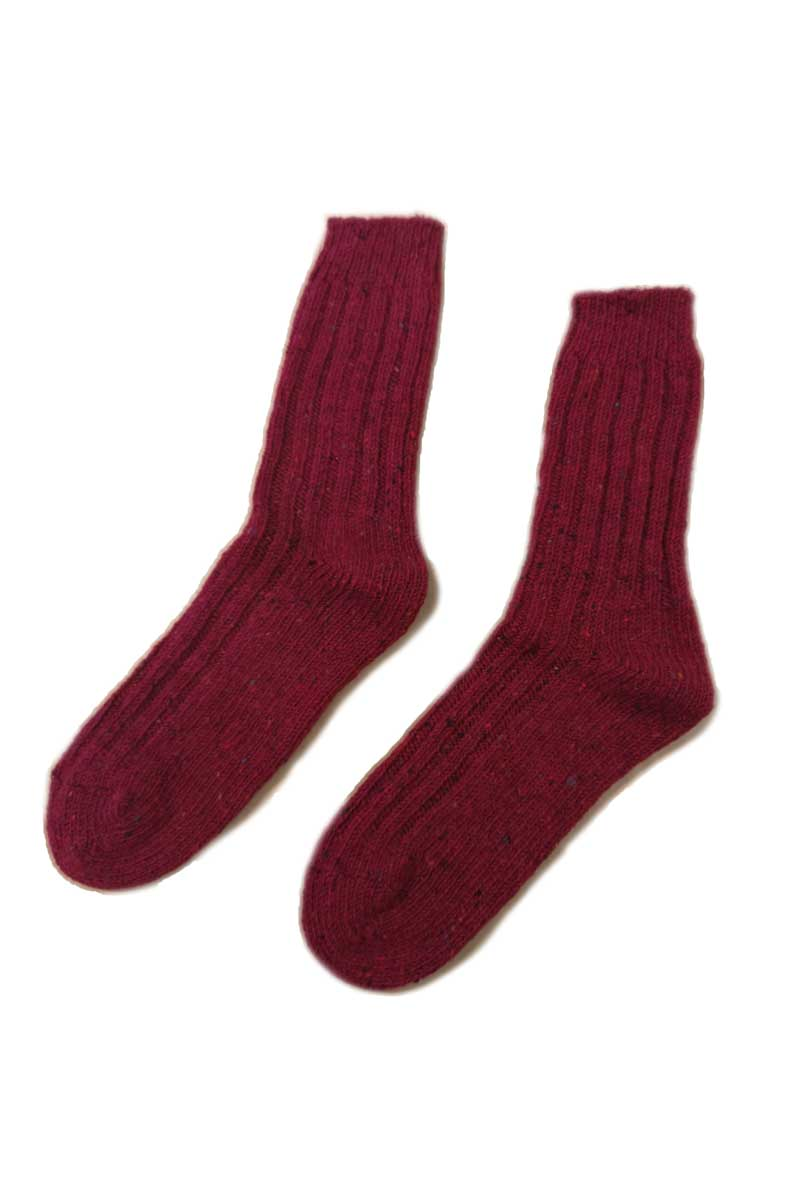 Irish Country Socks - Red Socks Grange Craft