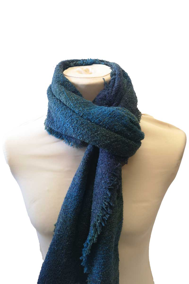 Celtic Wool Stole - Teal Check Kerry Woolen Mills