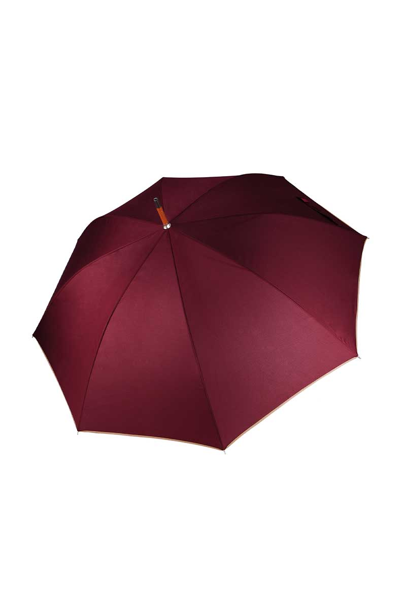 Country Wooden Umbrella (KI020) Umbrella Ralawise Burgundy