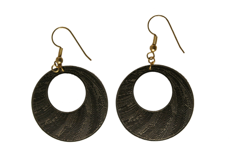 Etched loop earings