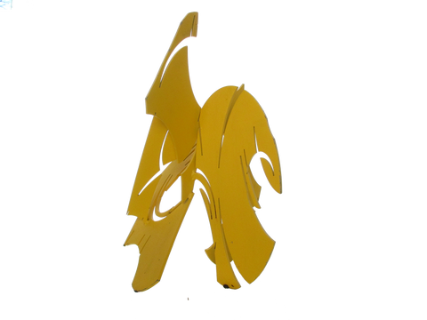 Yellow steel cutout