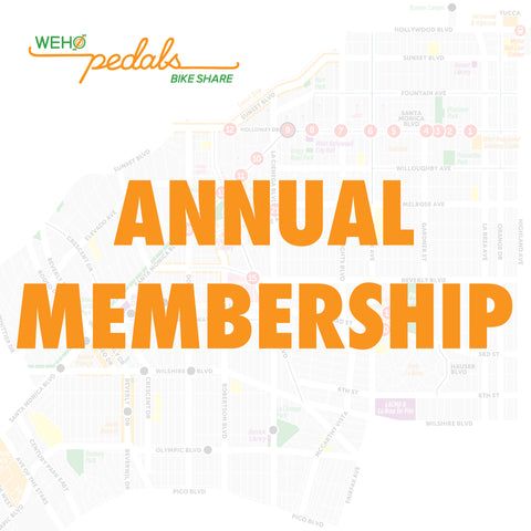 WeHo Pedals One Year Membership