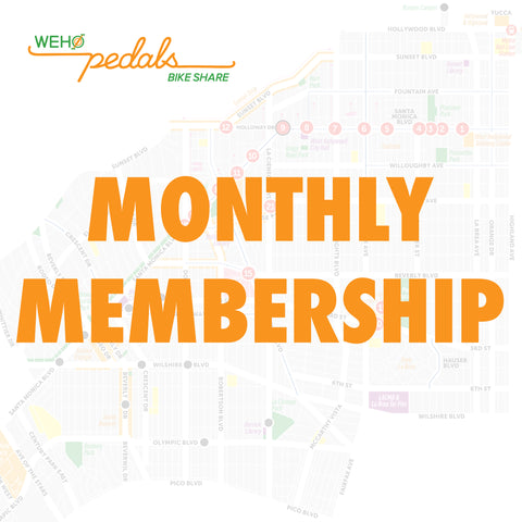 WeHo Pedals One Month Membership