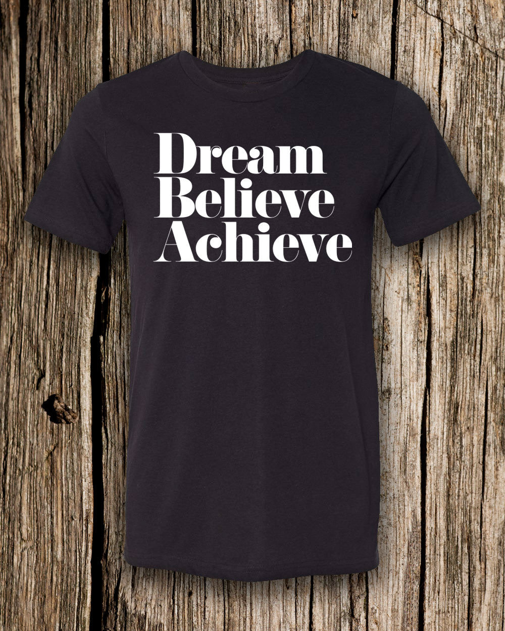 Dream, Believe, & Achieve Triblend Crew Neck T-shirt