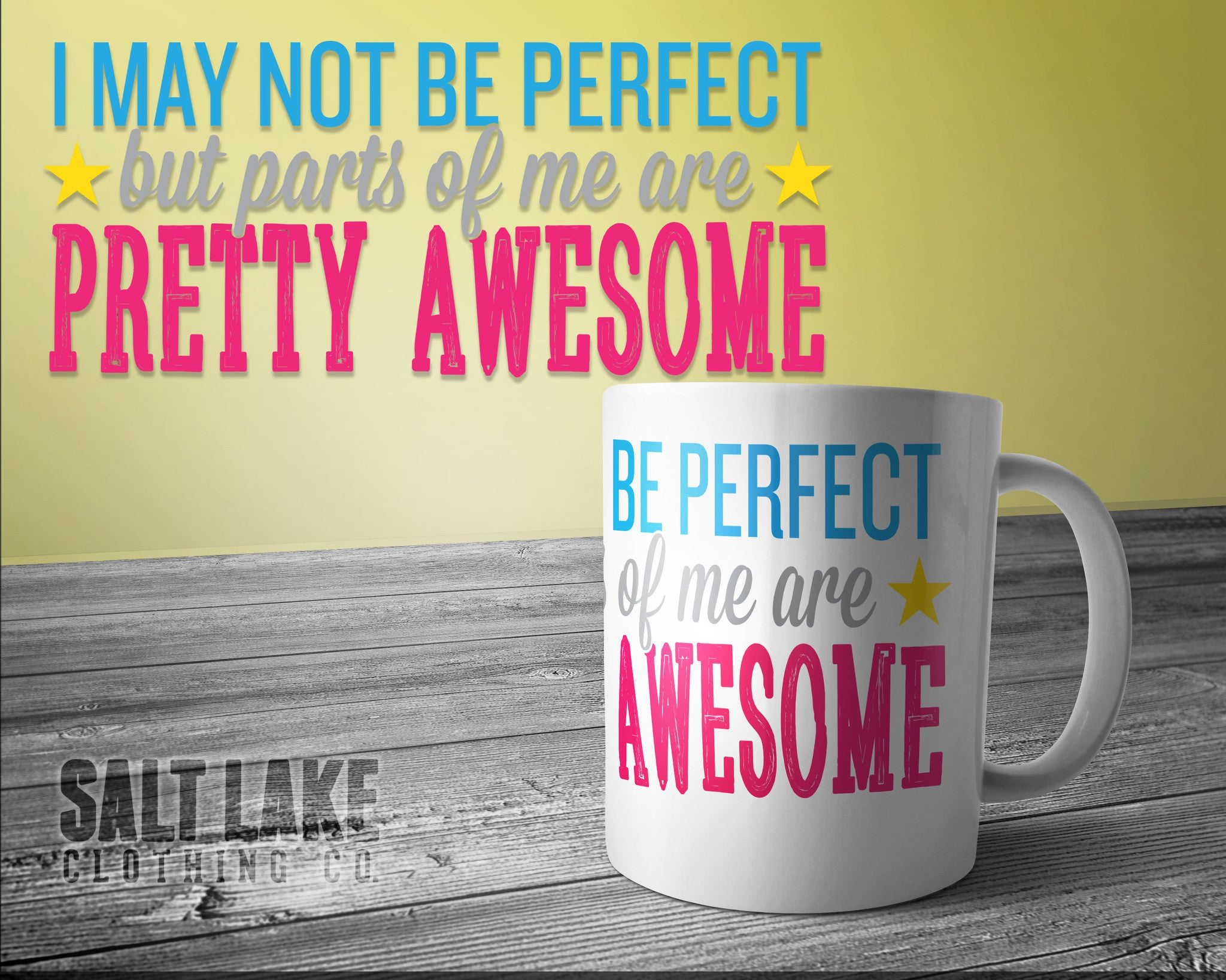 Parts of Me Are Awesome Ceramic 11 0z. Coffee Mug