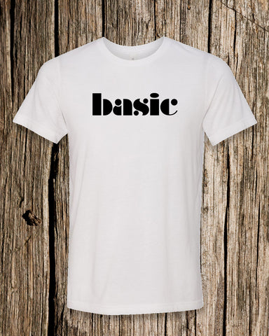 Basic Triblend Crew Neck T-shirt