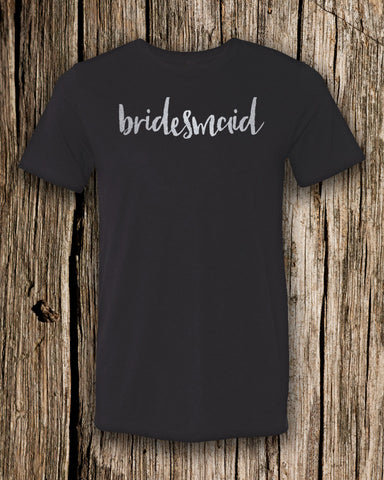 Bridesmaid Triblend Crew Neck T-shirt