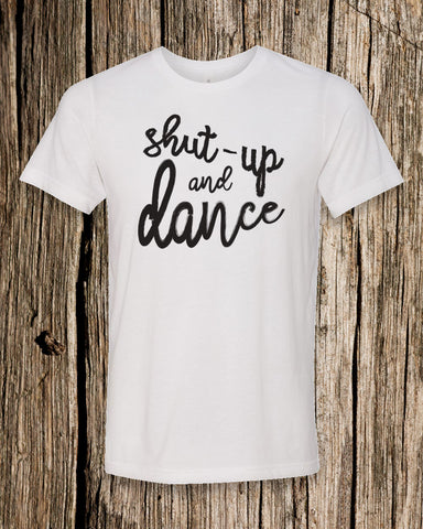 Shut-up and Dance Triblend Crew Neck T-shirt