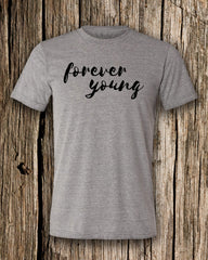 Forever Young Triblend Crew Neck T-shirt