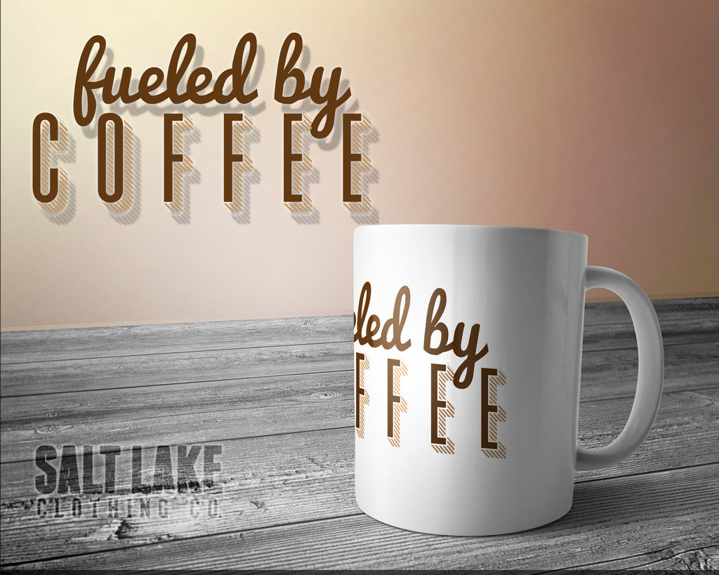 Fueled By Coffee Ceramic 11 0z. Coffee Mug