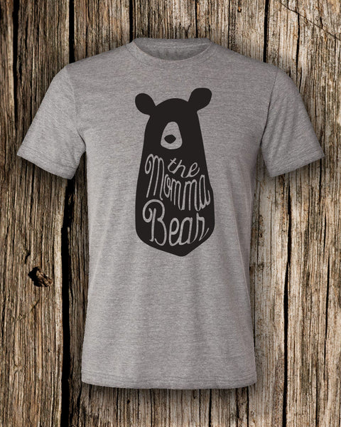 The Momma Bear Triblend Crew Neck T-shirt
