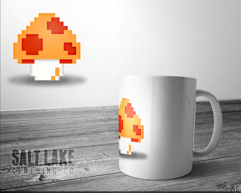 Super Mario Mushroom Ceramic 11 0z. Coffee Mug