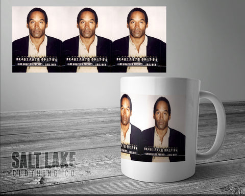 OJ Mugshot Ceramic 11 0z. Coffee Mug