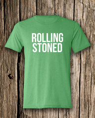 Rolling Stoned Triblend Crew Neck T-shirt