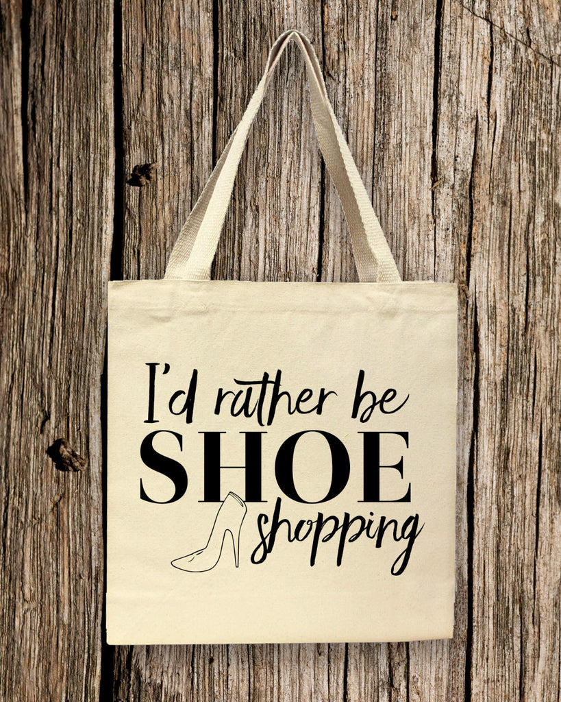 I'd Rather Be Shoe Shopping Canvas Tote Bag