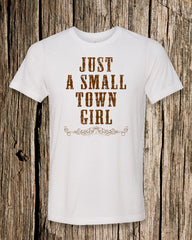 Small Town Girl Triblend Crew Neck T-shirt