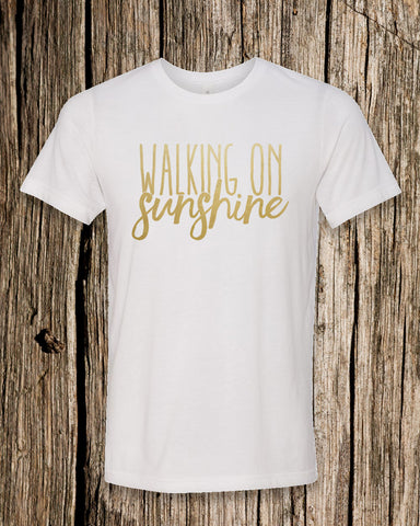 Walking On Sunshine Triblend Crew Neck T-shirt