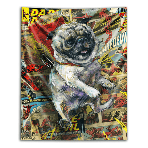Power Pug Tapestry