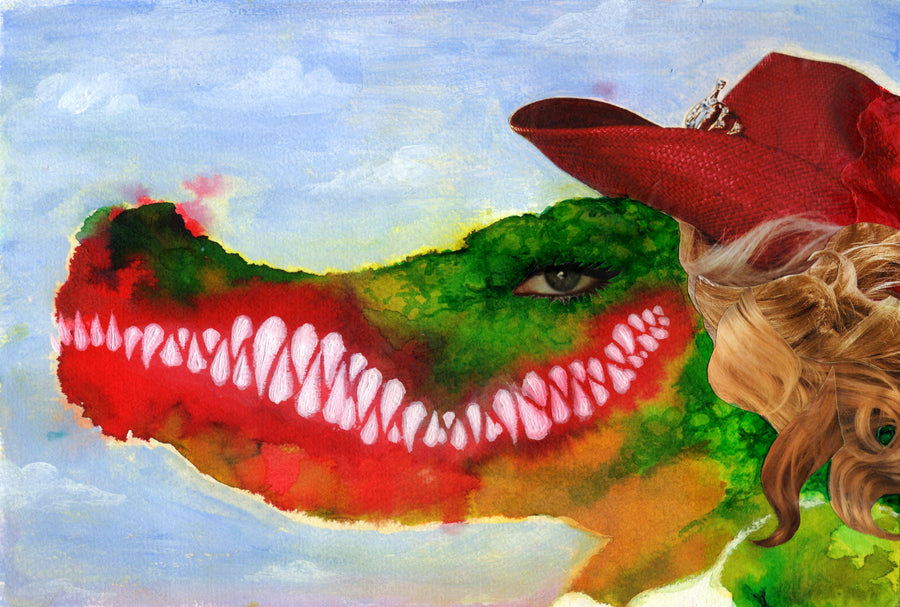 Big Beth Lizard Lips ~ Original Painting