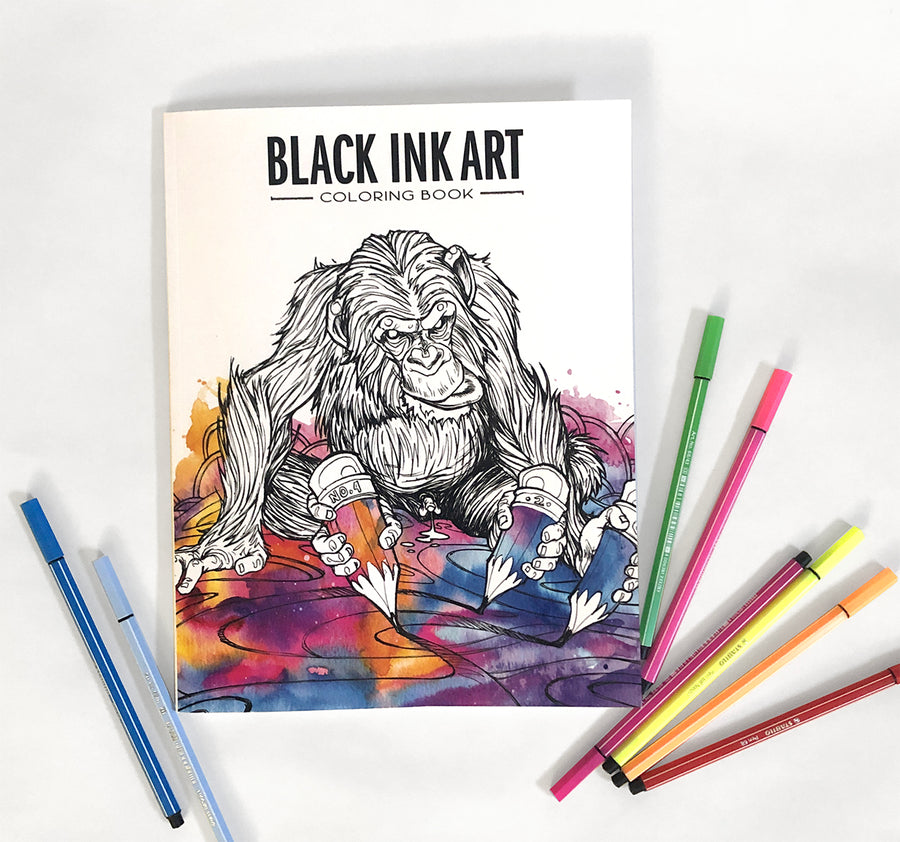 Black Ink Art Coloring Book!