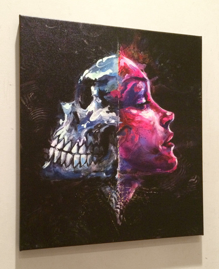 Death Reflects - Giclee canvas reproduction