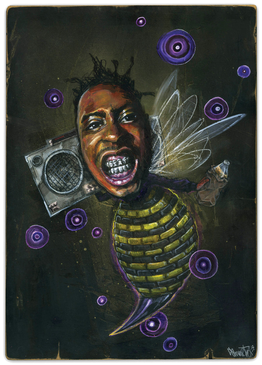 O.D.Bee - Giclee canvas reproduction
