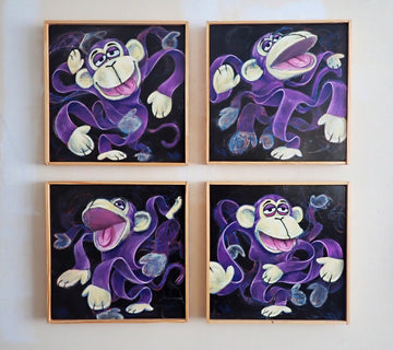 Purple funky monkey ~ Original Painting