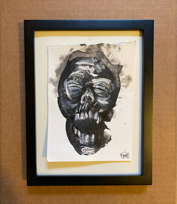 Shrunken head #4 ~ Original Painting