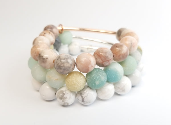 Stacking Bracelet - White Howlite