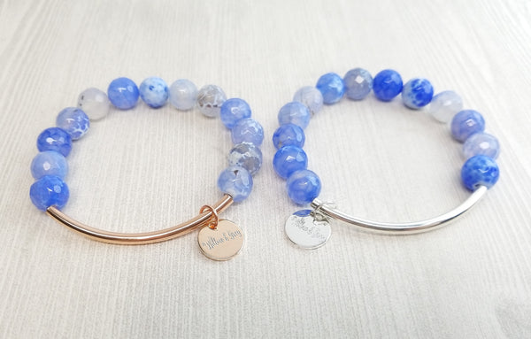 Stacking Bracelet - Blue Fire Agate
