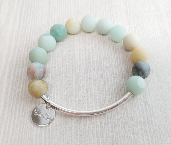 Stacking Bracelet - Matte Amazonite